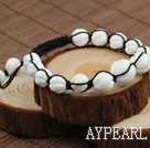 Wholesale Fashion Style Carved White Sea Shell Drawstring Bracelet