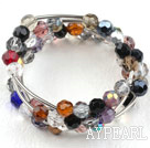 8mm cristal multi couleur Bangle Bracelet Wrap