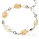 Wholesale simple and fashion citrine bracelet with lobster clasp