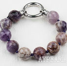 Faceted 14mm Amethyst Beaded Bracelet