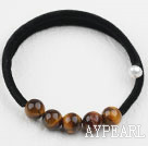 Simple de conception ronde Tiger Eye Bracelet