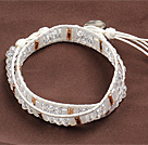 Fashion Style Clear Crystal Beads Wrap Bangle Bracelet
