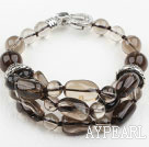 Assortert Natural Smoky Quartz Crystal armbånd