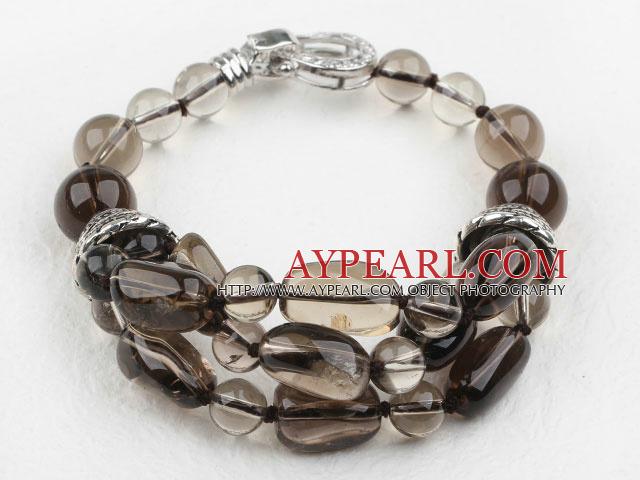 Assorted Natural Smoky Quartz Crystal Bracelet