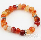 Classic Design Natural Color Agate Elastic Bangle Bracelet
