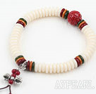 White Corozo Nut Prayer Bracelet ( Rosary Bracelet )