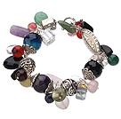 Bold Style Natural Carnelian Elastic Bangle Bracelet