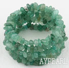 Wholesale Long Style Aventurine Chips Wrap Bangle Bracelet