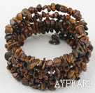 Lang stil Tiger Eye Chips Wrap Bangle Bracelet