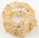 Wholesale Long Style Citrine Chips Wrap Bangle Bracelet