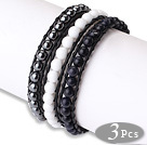 Multi Strands Natural Purple Freshwater Pearl Bangle Armband