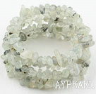 Wholesale Long Style Grape Stone Chips Wrap Bangle Bracelet