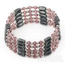 Wholesale multi strand purple crystal magnetic bracelet