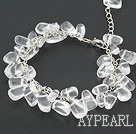 Wholesale clear crystal bracelet with extendable chain