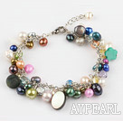 Wholesale colorful pearl shell bracelet with extendable chain