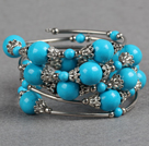 Wholesale fashion blue turquoise bangle bracelet