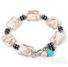 laze bracelet with toggle clasp glaçure bracelet avec fermoir