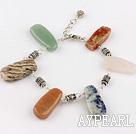 Wholesale multi color stone bracelet with extendable chain