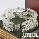 Wholesale multi strand white crystal bracelet