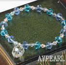 Wholesale sellable czech crystal elastic bracelet
