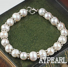 8-9mm natural white pearl bracelet