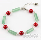 Wholesale aventurine and bloodstone bracelet with extendable chain