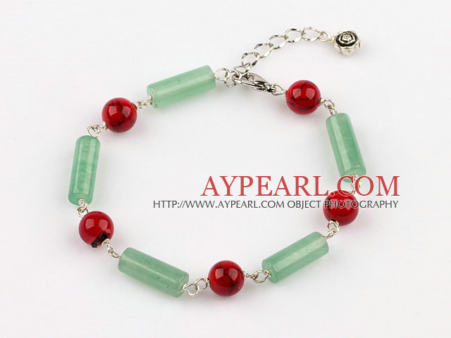 aventurine and bloodstone bracelet with extendable chain