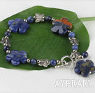 Wholesale Sodalite stone plum blossom bracelet with toggle clasp