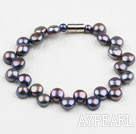 Black Freshwater Mabe Pearl Bracelet