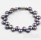 Black Freshwater Mabe Pearl Bracelet