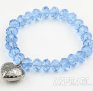 Enkel design Sky Blue Crystal Elastic Bangle Armband
