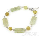 Wholesale lemon jade bracelet with lobster clasp