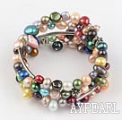 Wholesale multi color dyed pearl bangle