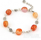 Wholesale simple natural agate bracelet with lobster clasp