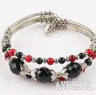 7.2 inches black agate and red bloodstone bangle