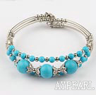 Wholesale 7.3 inches beautiful turquoise bangle