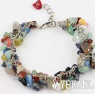 Discount multi color stone bracelet with extendable chain