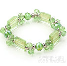 Wholesale light green manmade crystal colored glaze bracelet