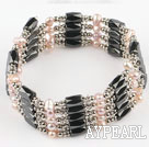 Wholesale 3-4mm pearl magnetic bracelet