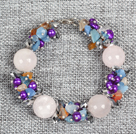 Wholesale 6 row green crystal magnetic bracelet