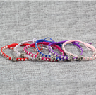 Wholesale 6 Pcs Multi Color Alloyed Buddha Head Accessory Hand-Knitted Bracelet (Random Color)