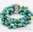 Wholesale fashion multi strand turquoise bracelet