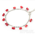 red coral bracelet with extendable chain