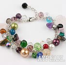 colorful stone crystal bracelet with extendable chain