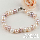 Wholesale 7-8mm cultured natural fresh water pearl bracelet