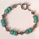 Wholesale 7 inches 40mm turquoise bracelet with moonlight clasp