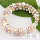 Wholesale 6-7mm popular 3 strand natural fresh water pearl