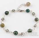 faceted Indian agate bracelet with extendable chain