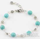 Wholesale burst pattern turquoise bracelet with extendable chain