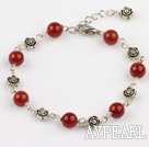 Wholesale red agate bracelet with extendable chain